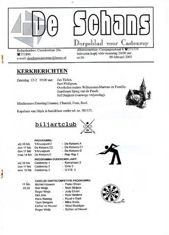 Castenrays dorpsblad De Schans 2005-02-09