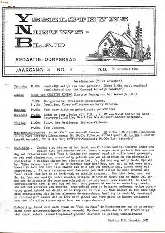 Ysselsteyns Nieuwsblad 1987-11-20