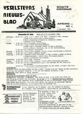 Ysselsteyns Nieuwsblad 1985-09-06