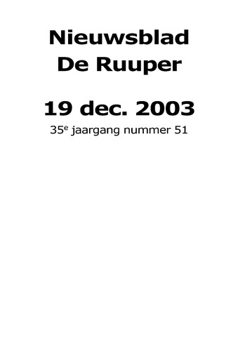 Dorpsblad Leunen-Veulen-Heide 2003-12-19