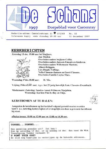 Castenrays dorpsblad De Schans 1997-12-11