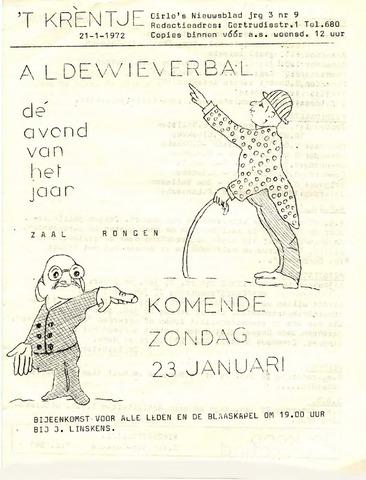 Oirlo's dorpsblad 't Krèntje 1972-01-21