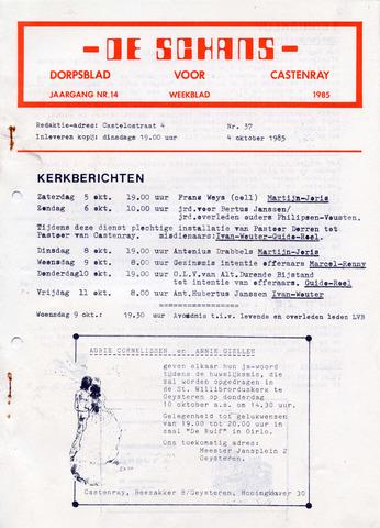 Castenrays dorpsblad De Schans 1985-10-04