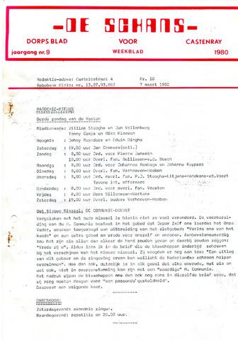 Castenrays dorpsblad De Schans 1980-03-07