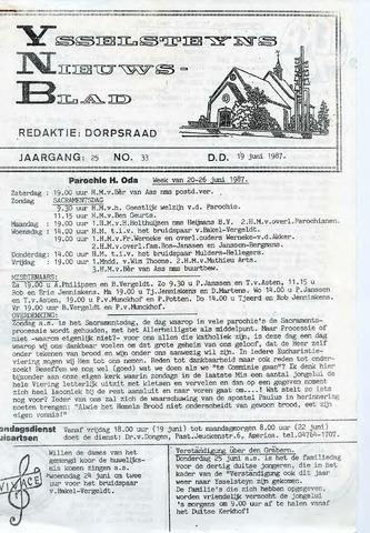 Ysselsteyns Nieuwsblad 1987-06-19