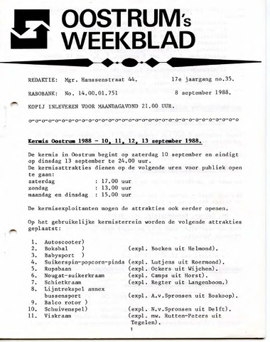 Oostrum's Weekblad 1988-09-08
