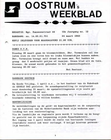 Oostrum's Weekblad 1983-03-24