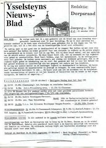 Ysselsteyns Nieuwsblad 1994-10-21