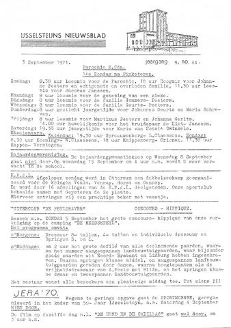 Ysselsteyns Nieuwsblad 1971-09-03