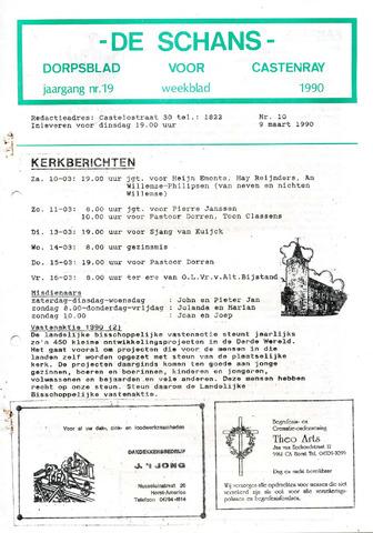 Castenrays dorpsblad De Schans 1990-03-09