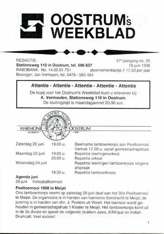 Oostrum's Weekblad 1998-06-18