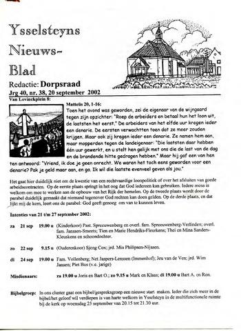 Ysselsteyns Nieuwsblad 2002-09-20