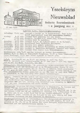 Ysselsteyns Nieuwsblad 1975-05-23