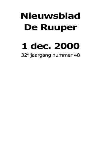 Dorpsblad Leunen-Veulen-Heide 2000-12-01