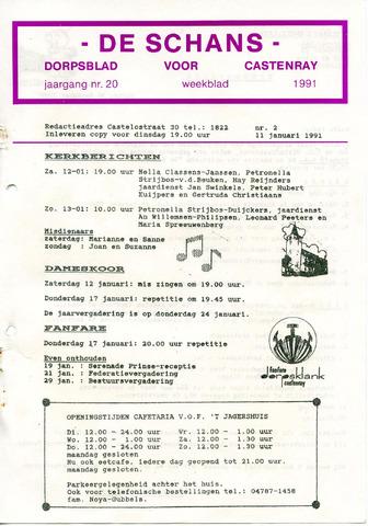 Castenrays dorpsblad De Schans 1991-01-11