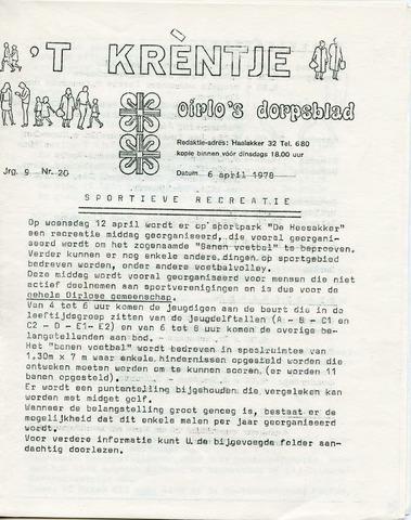 Oirlo's dorpsblad 't Krèntje 1978-04-06