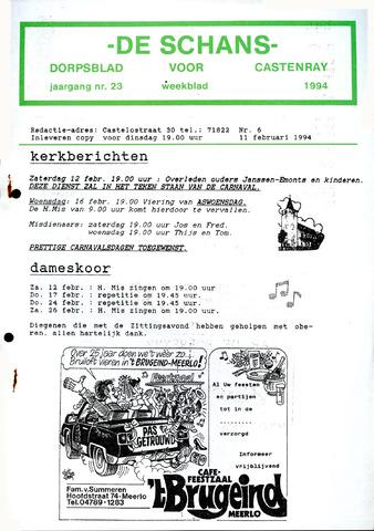 Castenrays dorpsblad De Schans 1994-02-11