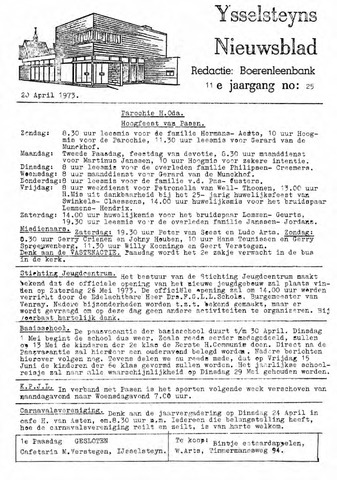 Ysselsteyns Nieuwsblad 1973-04-20