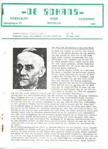 Castenrays dorpsblad De Schans 1981-09-25