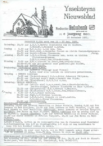 Ysselsteyns Nieuwsblad 1981-12-18