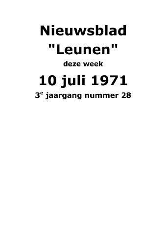 Dorpsblad Leunen-Veulen-Heide 1971-07-10