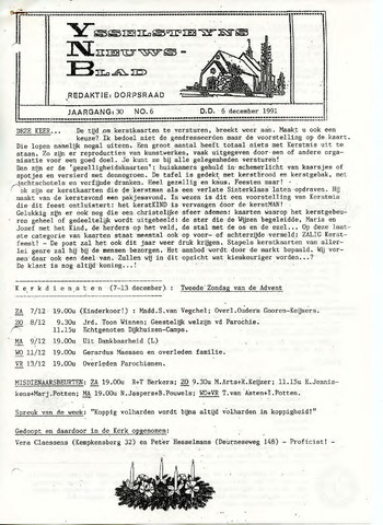 Ysselsteyns Nieuwsblad 1991-12-06