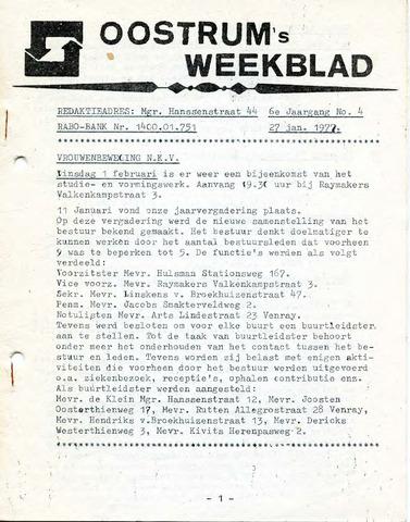 Oostrum's Weekblad 1977-01-27