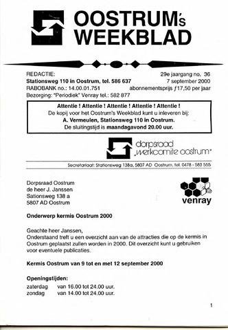 Oostrum's Weekblad 2000-09-07
