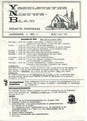 Ysselsteyns Nieuwsblad 1986-04-04