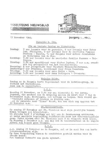 Ysselsteyns Nieuwsblad 1966-11-17
