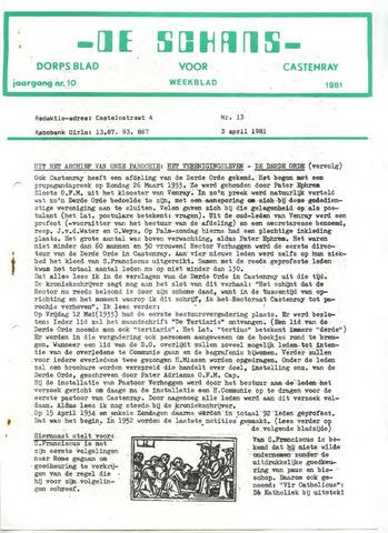 Castenrays dorpsblad De Schans 1981-04-03