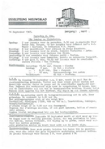 Ysselsteyns Nieuwsblad 1967-09-14
