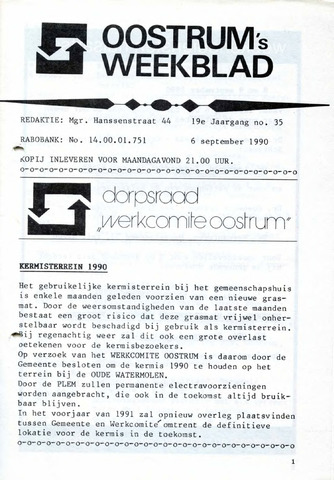 Oostrum's Weekblad 1990-09-06