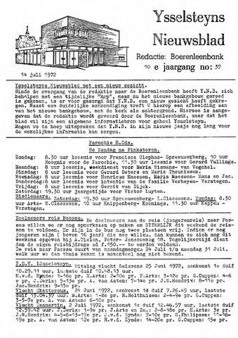 Ysselsteyns Nieuwsblad 1972-07-14