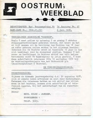 Oostrum's Weekblad 1978-07-06