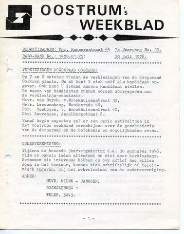 Oostrum's Weekblad 1978-07-20