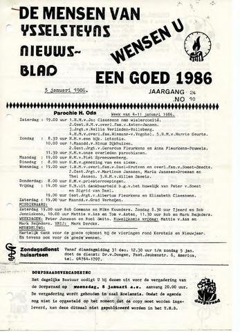 Ysselsteyns Nieuwsblad 1986