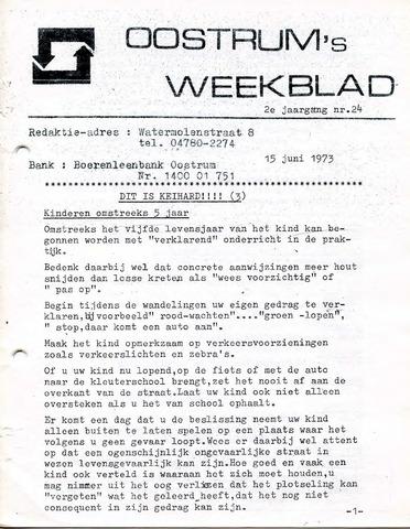 Oostrum's Weekblad 1973-06-15