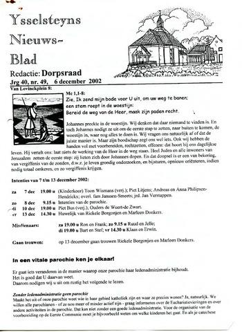 Ysselsteyns Nieuwsblad 2002-12-06