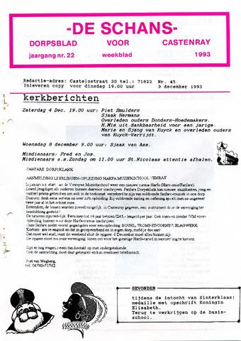 Castenrays dorpsblad De Schans 1993-12-03