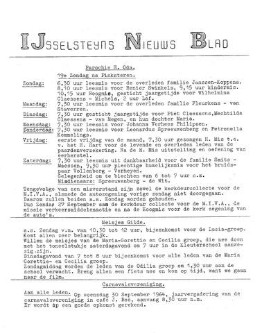 Ysselsteyns Nieuwsblad 1964-09-24