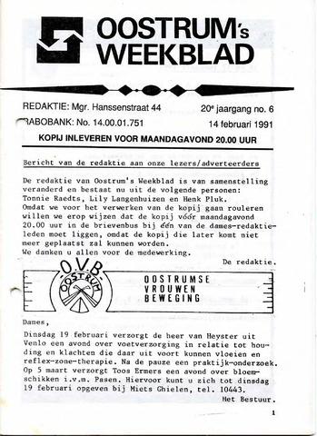 Oostrum's Weekblad 1991-02-14