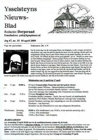 Ysselsteyns Nieuwsblad 2009-04-10