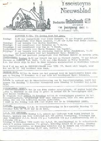 Ysselsteyns Nieuwsblad 1978-11-10