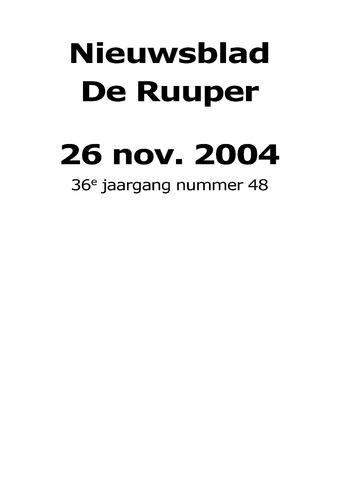 Dorpsblad Leunen-Veulen-Heide 2004-11-26
