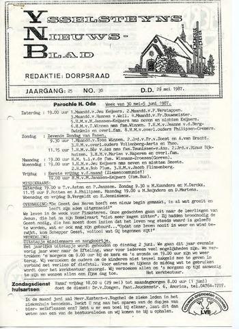 Ysselsteyns Nieuwsblad 1987-05-29