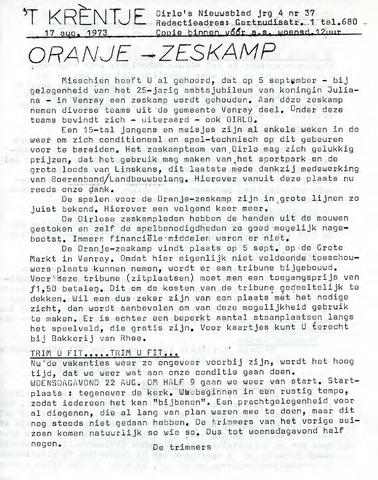 Oirlo's dorpsblad 't Krèntje 1973-08-17