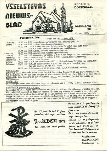 Ysselsteyns Nieuwsblad 1984-06-15