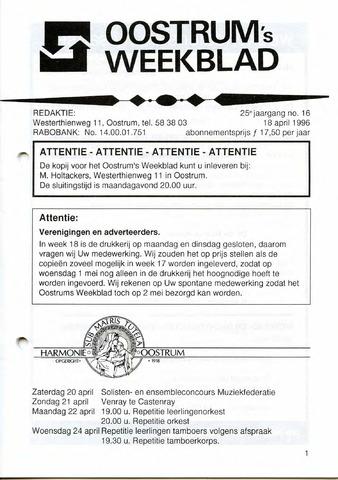 Oostrum's Weekblad 1996-04-18