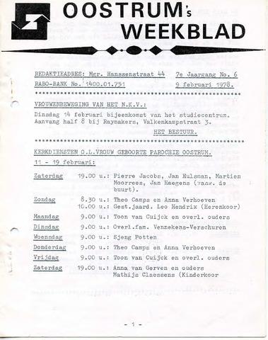 Oostrum's Weekblad 1978-02-09
